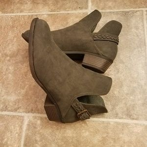 Olive Green Ankle Boot